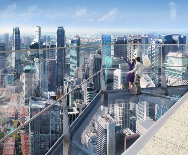 Glass Observation Deck at top of Guoco Towers